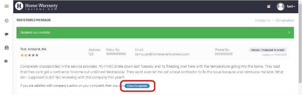 CRP_Close_Complaint