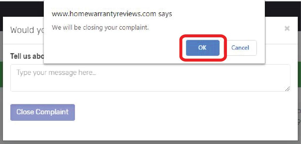 CRP_Close_Complaint_Confirmation