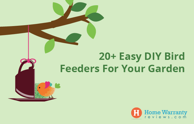 20+ Easy DIY Bird Feeders For Your Garden