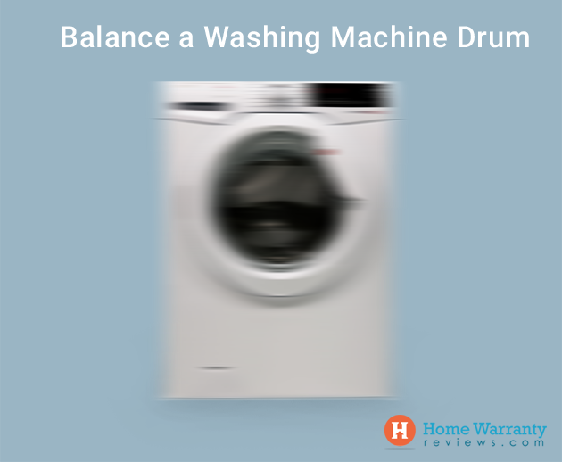 Balance a washing machine drum