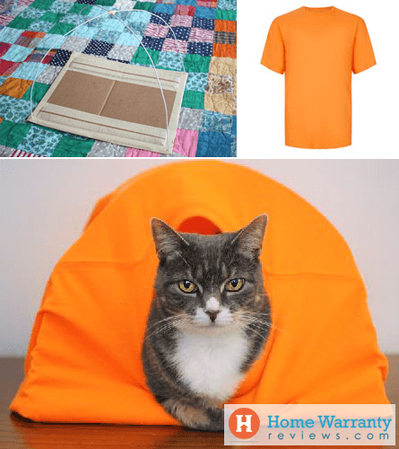 diy cat tent bed