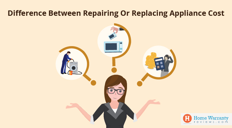 Difference between repairing or replacing appliance cost