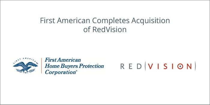 First American Completes Acquisition of RedVision