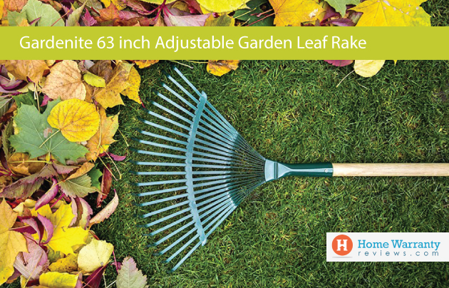 Gardenite 63 inch Adjustable Garden Leaf Rake