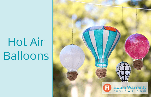 light bulb hot air balloon diy with instructions