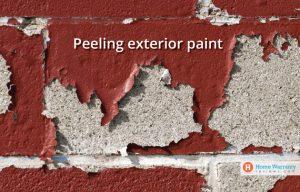 Peeling exterior paint