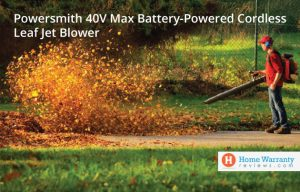 Powersmith 40V Max Battery-Powered Cordless Leaf Jet Blower