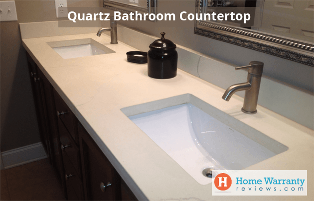 quartz bathroom countertops pros cons