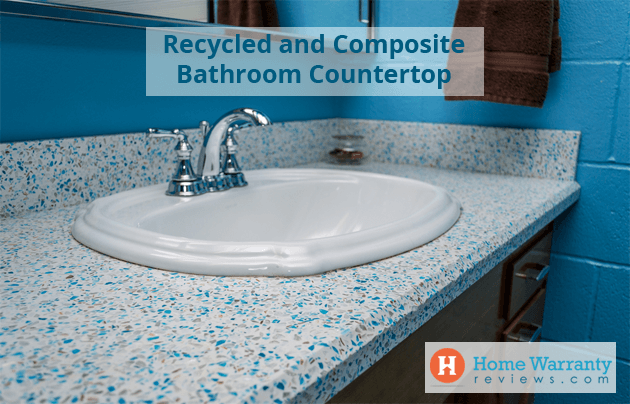 recycled bathroom countertops
