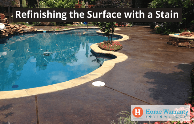 Refinishing the Surface with a Stain