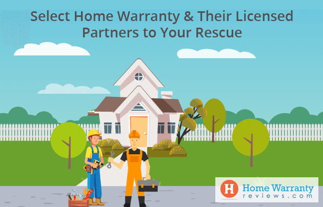select home warranty their licensed partners to your rescue