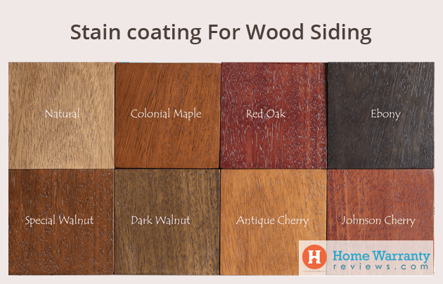 Stain paints wood siding