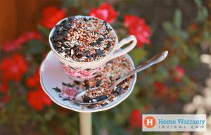 Tea Cup Tower Bird Feeders