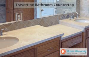 travertine bathroom countertops pros cons