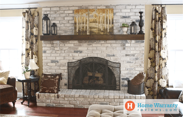 fireplace updates on a budget