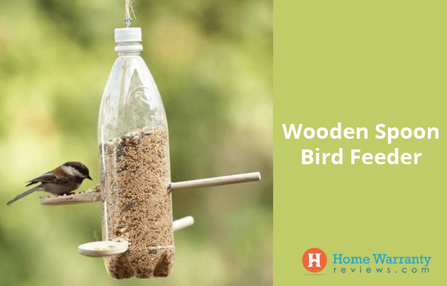 Wooden Spoon Bird Feeder