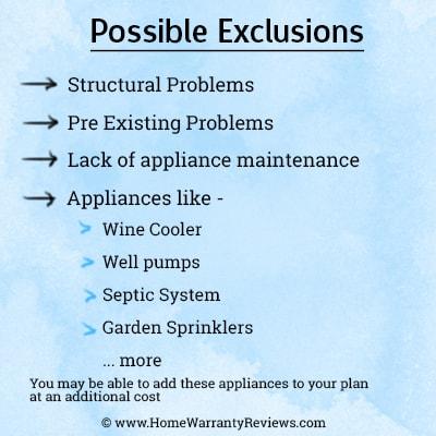 home warranty exclusions